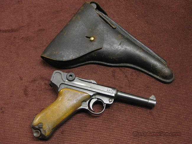 LUGER ERFURT MILITARY 1916 9MM - LOW SERIAL NUMBER - WITH HOLSTER & TOOLS  Guns > Pistols > Luger Pistols