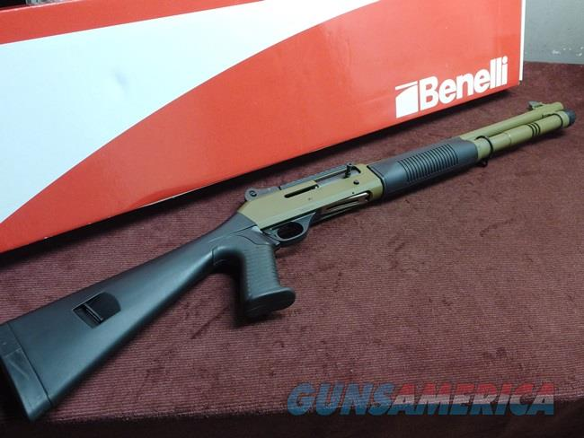BENELLI M4 TACTICAL 12GA. - FACTORY FDE CERAKOTE - AS NEW IN BOX - APPEARS UNFIRED   Guns > Shotguns > Benelli Shotguns > Tactical