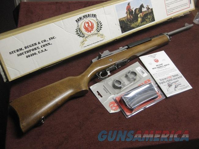 RUGER MINI-30 STAINLESS / WOOD - 7.62X39 - NEAR MINT IN BOX WITH TWO MAGS.  Guns > Rifles > Ruger Rifles > Mini-14 Type