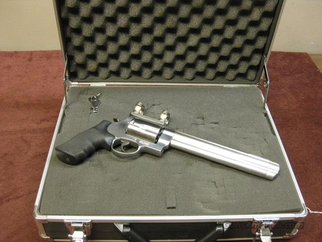 "SMITH & WESSON .500 S&W MAGNUM 8 3/8"" - & LEUPOLD BASE/RINGS - CASE - EXCELLENT  Guns > Pistols > Smith & Wesson Revolvers > Full Frame Revolver"