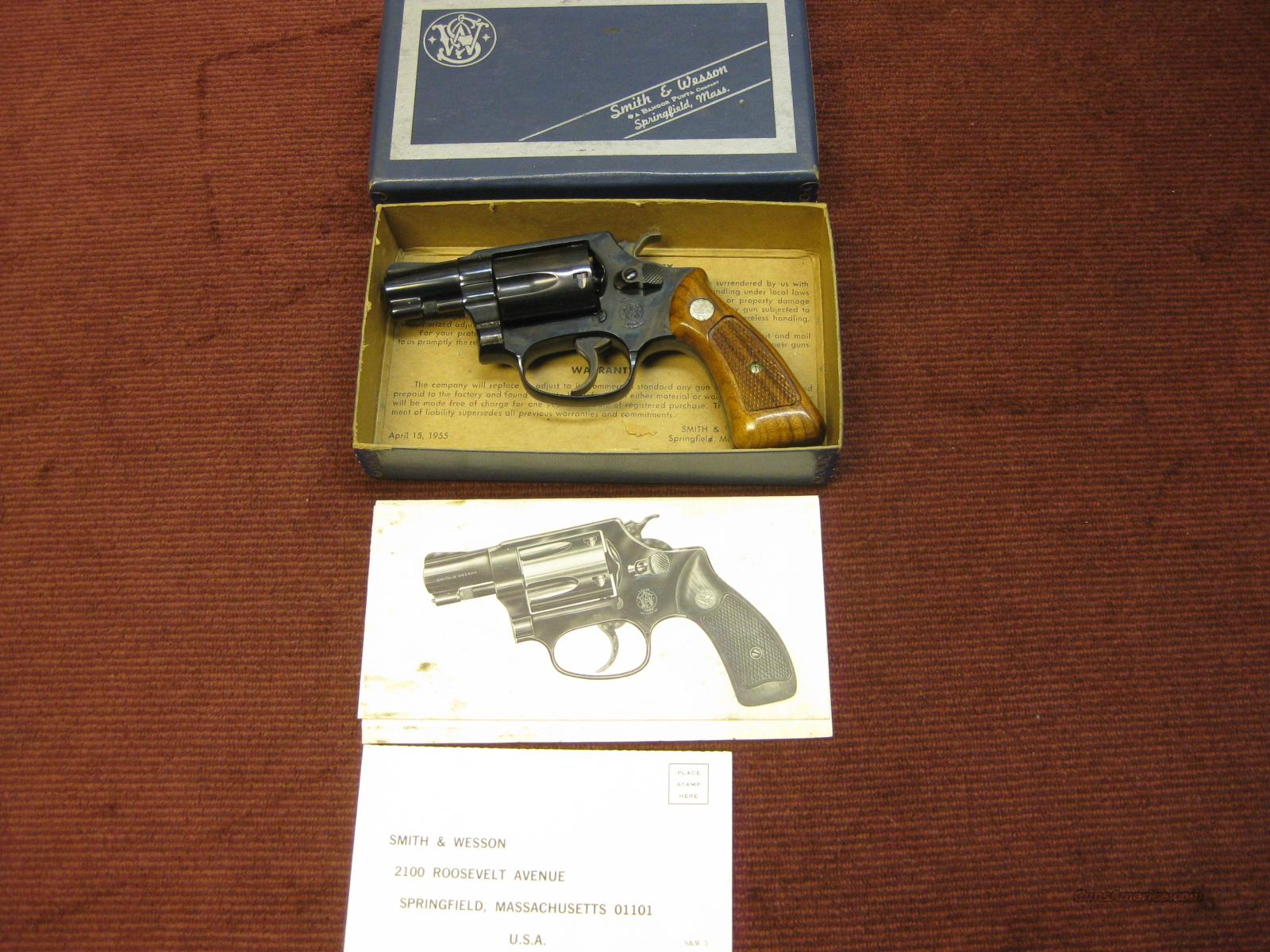 SMITH & WESSON MODEL 36 (NO DASH) MADE IN 1969 - AS NEW IN BOX !  Guns > Pistols > Smith & Wesson Revolvers > Pocket Pistols