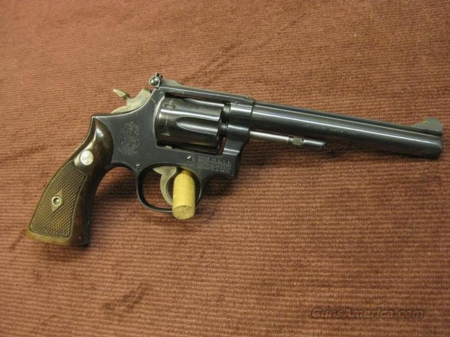 SMITH & WESSON 17-2 .22LR  6-INCH - MADE IN 1965 - EXCELLENT  Guns > Pistols > Smith & Wesson Revolvers > Full Frame Revolver