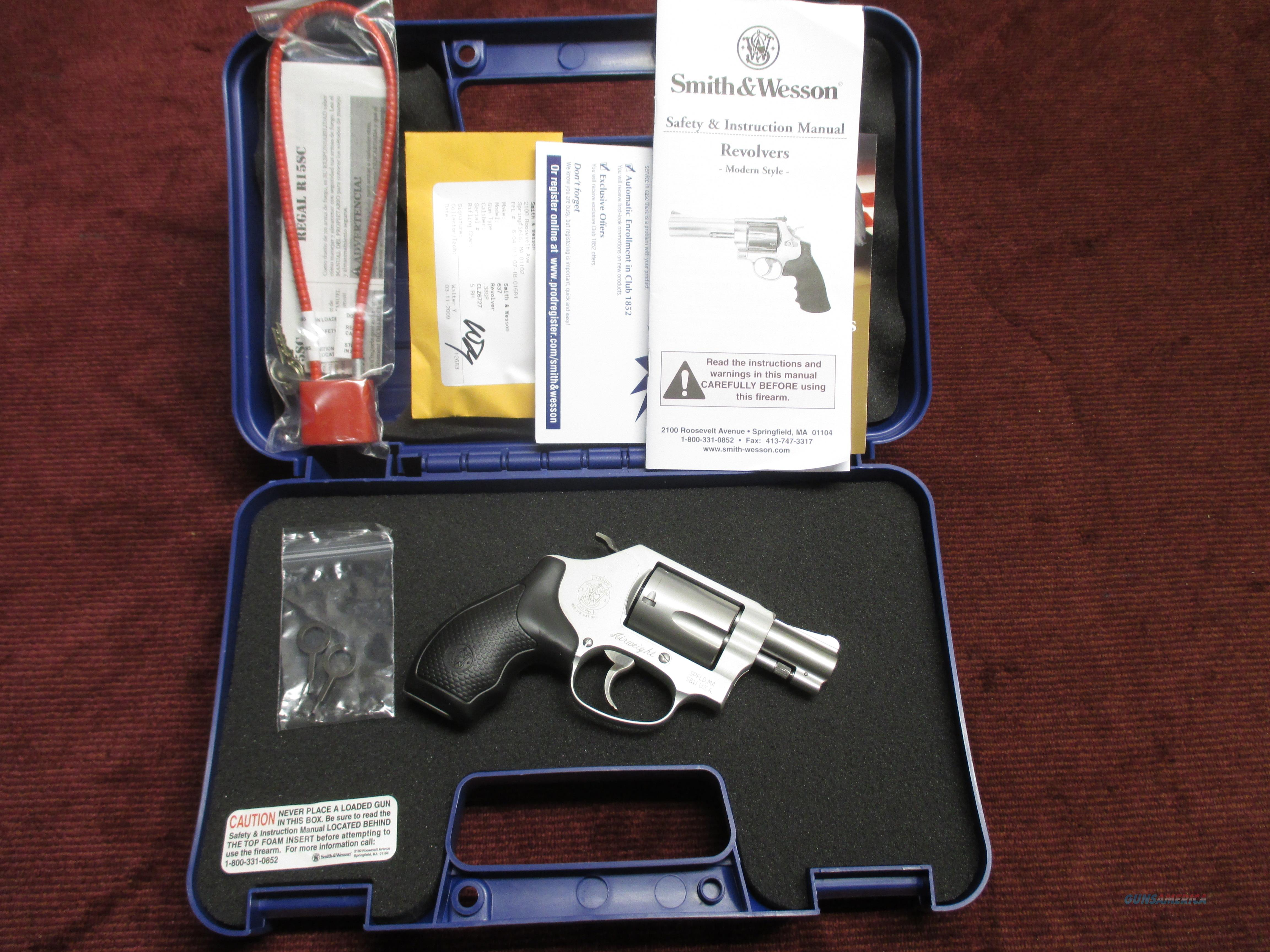 SMITH & WESSON 637-2 .38 SPL. +P - AS NEW IN BOX  Guns > Pistols > Smith & Wesson Revolvers > Pocket Pistols