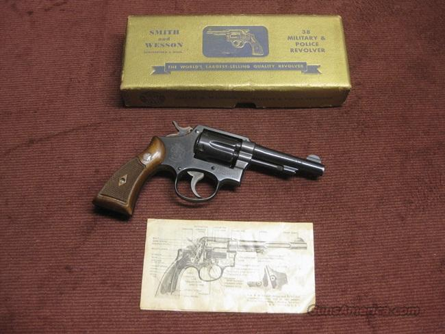 SMITH & WESSON 38 MILITARY & POLICE .38 SPL. - 4-INCH - WITH BOX  Guns > Pistols > Smith & Wesson Revolvers > Full Frame Revolver