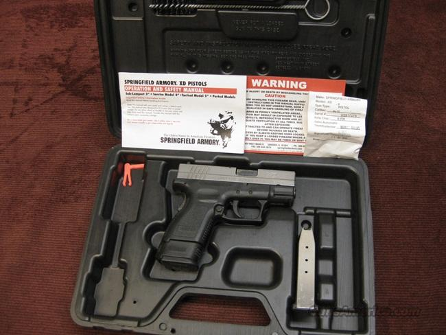SPRINGFIELD XD-9 9MM SUB COMPACT - TWO MAGAZINES - MINT IN BOX  Guns > Pistols > Springfield Armory Pistols > XD (eXtreme Duty)