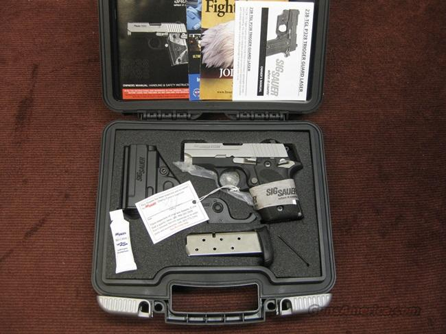SIG SAUER P238 .380 - LASER SIGHT - NIGHT SIGHTS - TWO MAGS. - AS NEW IN BOX  Guns > Pistols > Sig - Sauer/Sigarms Pistols > P238
