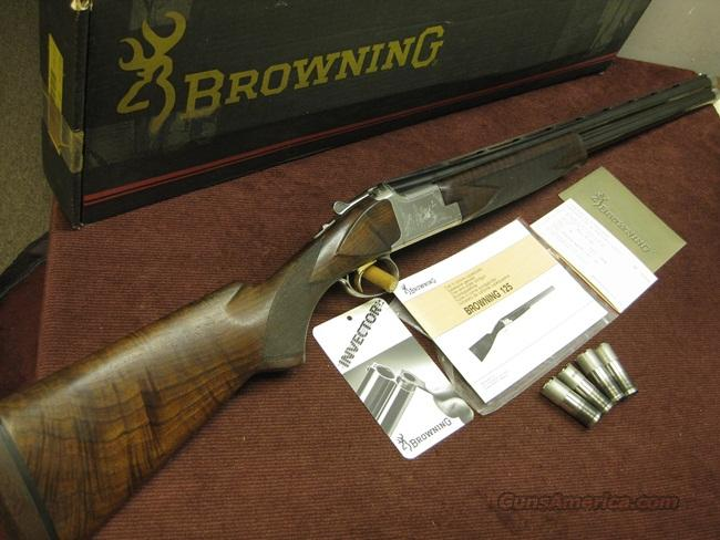 BROWNING BELGIAN SUPERPOSED-STYLE -  B-125 - B-GRADE SPORTING 12GA. FN BELGIAN - 28-IN. INVECTORS - XX FANCY WALNUT - FN CUSTOM SHOP - FACTORY HAND ENGRAVED & SIGNED  Guns > Shotguns > Browning Shotguns > Over Unders > Belgian Manufacture