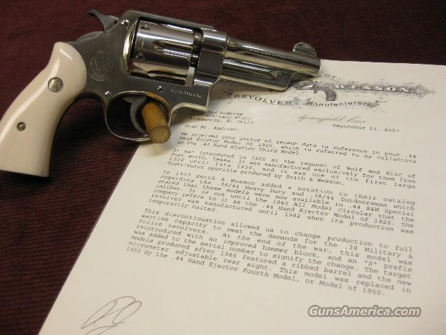 SMITH & WESSON .44 HAND EJECTOR - THIRD MODEL  Guns > Pistols > Smith & Wesson Revolvers > Pre-1945