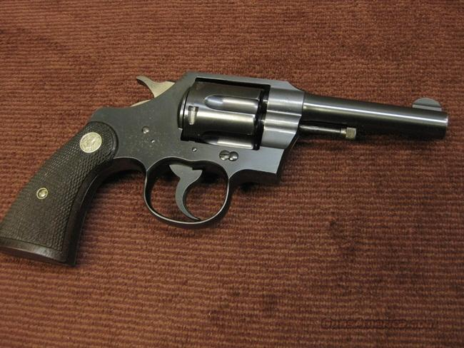 COLT OFFICIAL POLICE .38SPL. - 4- INCH - MADE IN 1934 - VERY NICE   Guns > Pistols > Colt Double Action Revolvers- Pre-1945