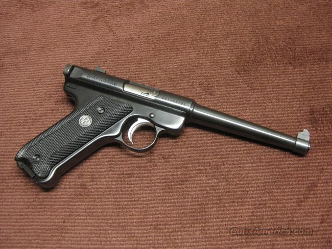 RUGER MARK II .22LR - 6-INCH - BLUE - MINT  Guns > Pistols > Ruger Semi-Auto Pistols > Mark I & II Family
