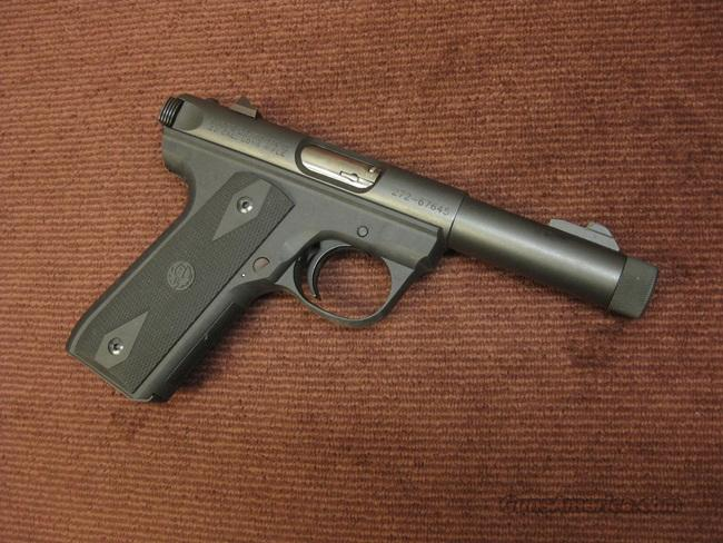 RUGER MK III 22/45 .22LR - 4 1/2-IN - THREADED MUZZLE - MINT  Guns > Pistols > Ruger Semi-Auto Pistols > Mark I & II Family