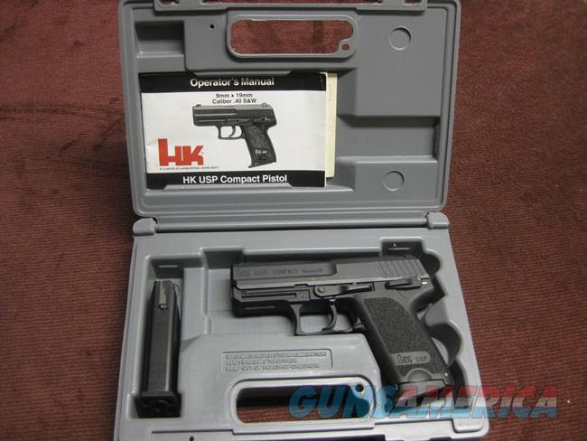 HECKLER & KOCH USP COMPACT 9MM - AS NEW IN BOX - TWO MAGS  Guns > Pistols > Heckler & Koch Pistols > SteelFrame