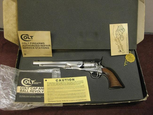 COLT 1860 .44 CAP & BALL - STAINLESS  Guns > Pistols > Colt Percussion Revolver - Modern