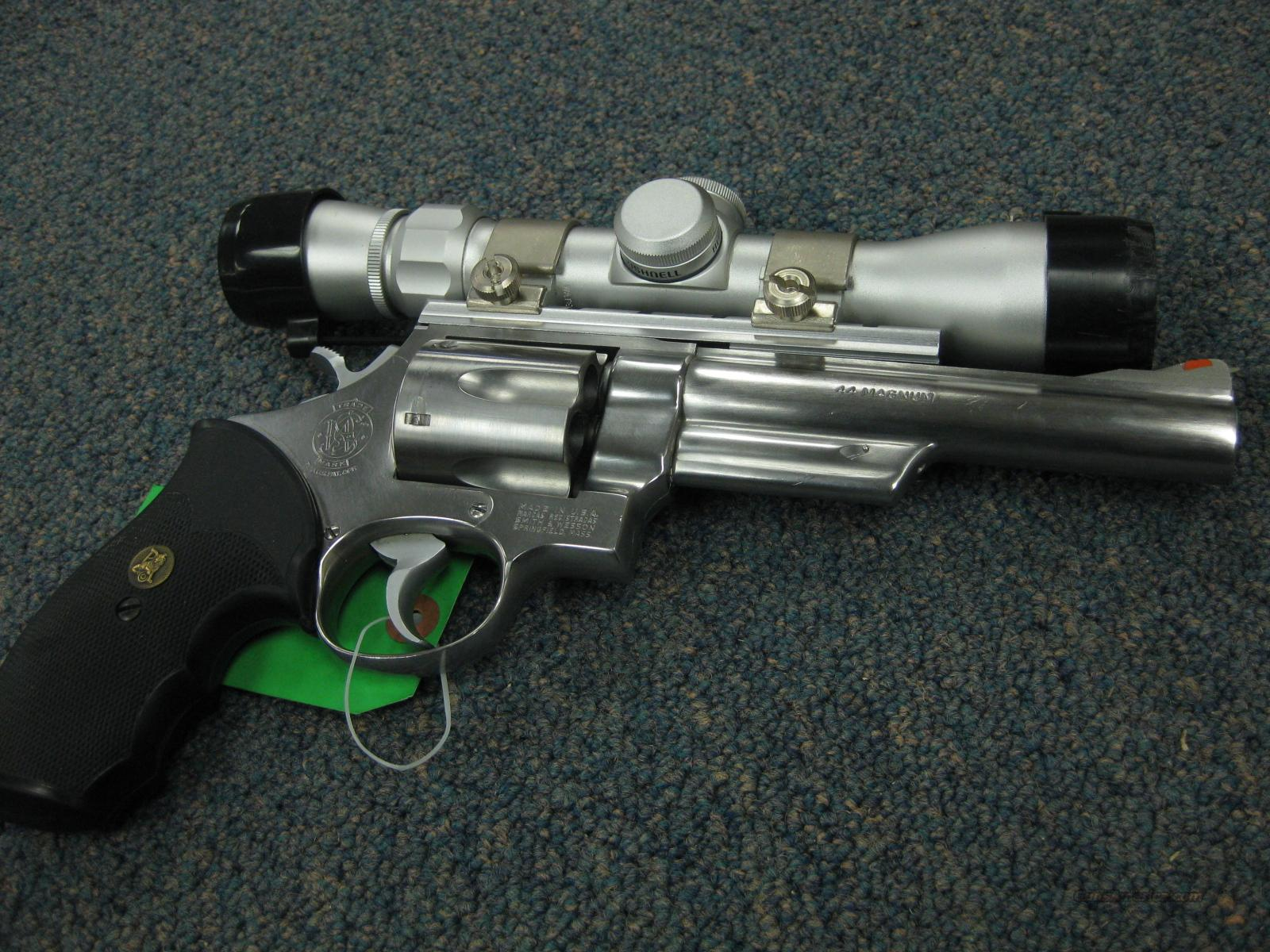 SMITH & WESSON 629 .44MAG. 6-INCH W/SCOPE - EXCELLENT !  Guns > Pistols > Smith & Wesson Revolvers > Model 629