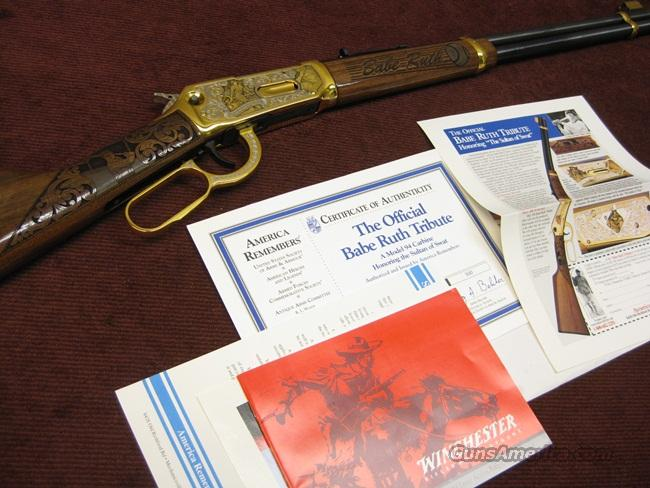 WINCHESTER 94 30-30 BABE RUTH TRIBUTE - AMERICA REMEMBERS SERIES - NEW  Guns > Rifles > Winchester Rifle Commemoratives