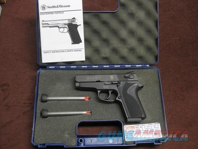 SMITH & WESSON 908 COMPACT 9MM - AS NEW IN BOX WITH THREE MAGS  Guns > Pistols > Smith & Wesson Pistols - Autos > Alloy Frame
