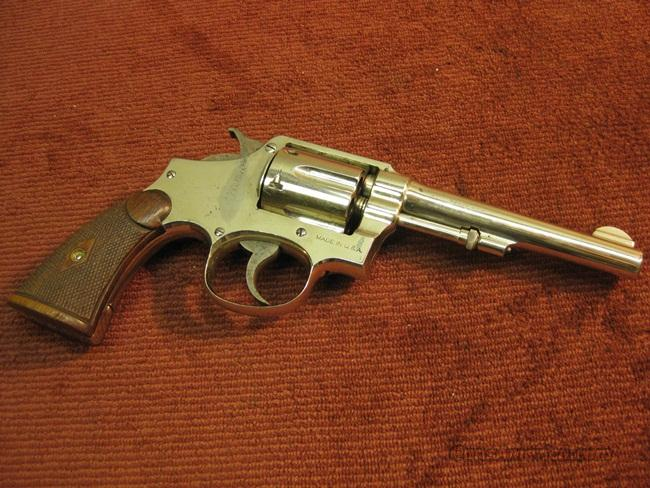 SMITH & WESSON PRE-WAR .32/20 HAND EJECTOR 5-IN. NICKEL  Guns > Pistols > Smith & Wesson Revolvers > Pre-1945
