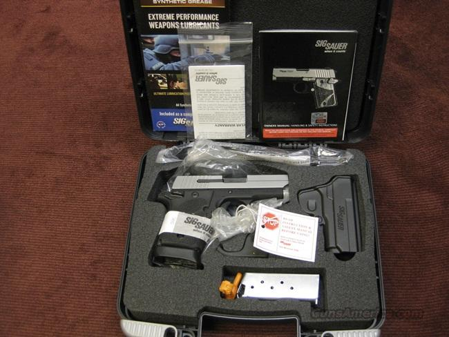 SIG SAUER P938 ULTRA COMPACT 9MM - LASER - TWO TONE - NIB  Guns > Pistols > Sig - Sauer/Sigarms Pistols > Other