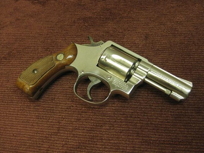 SMITH & WESSON 10-8 .38 SPL. - 3-INCH - ROUND BUTT - NICKEL  Guns > Pistols > Smith & Wesson Revolvers > Model 10