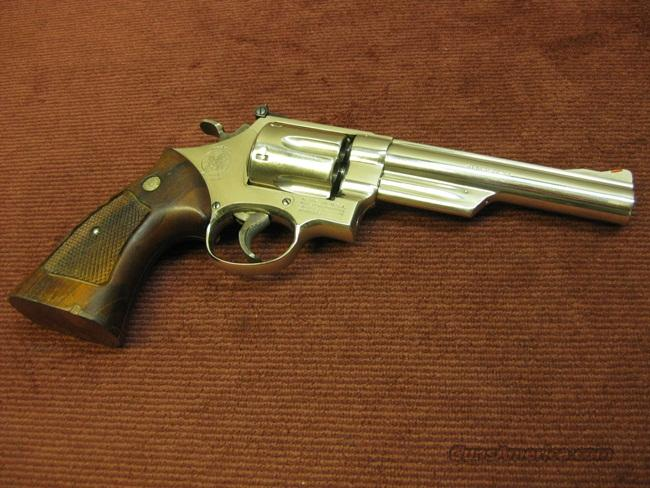 SMITH & WESSON 57 .41MAG. NICKEL   Guns > Pistols > Smith & Wesson Revolvers > Full Frame Revolver