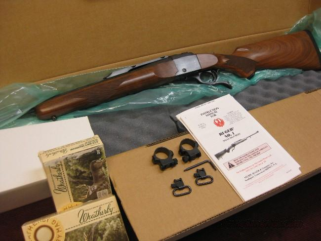 RUGER NO. 1 .270 WEATHERBY MAG. - W/BOX & AMMO  Guns > Rifles > Ruger Rifles > #1 Type