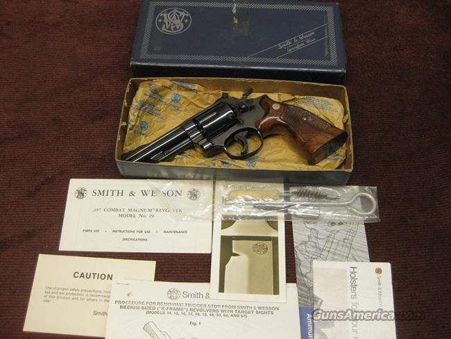 SMITH & WESSON 19-3 .357 MAG. -  4-INCH -  MINT IN BOX WITH PAPERS & TOOLS  Guns > Pistols > Smith & Wesson Revolvers > Full Frame Revolver
