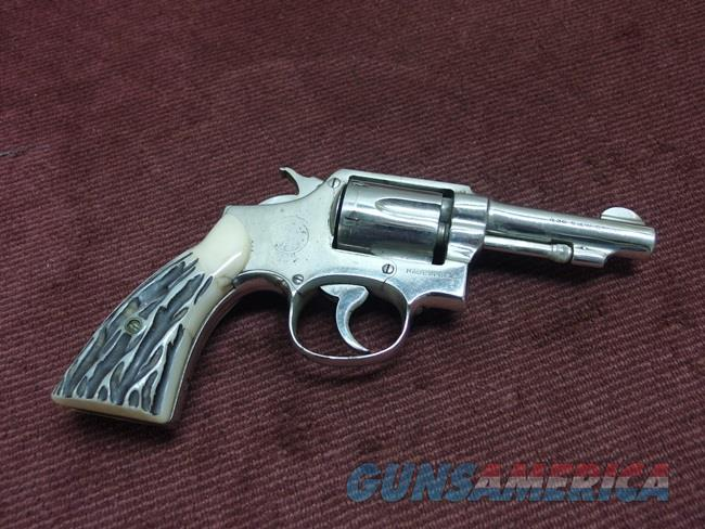 SMITH & WESSON VICTORY MODEL REVOLVER .38 S&W - 3 1/2-IN. - NICKEL  Guns > Pistols > Smith & Wesson Revolvers > Pre-1945