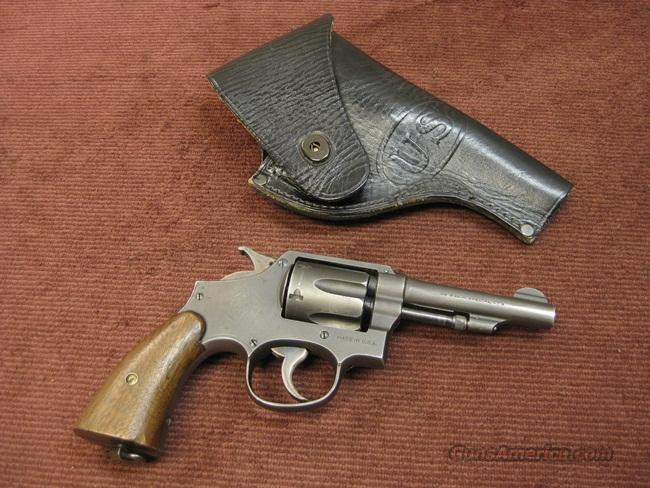 SMITH & WESSON VICTORY .38SPL - U.S. MARKED - WITH HOLSTER - EXCELLENT  Guns > Pistols > Smith & Wesson Revolvers > Full Frame Revolver