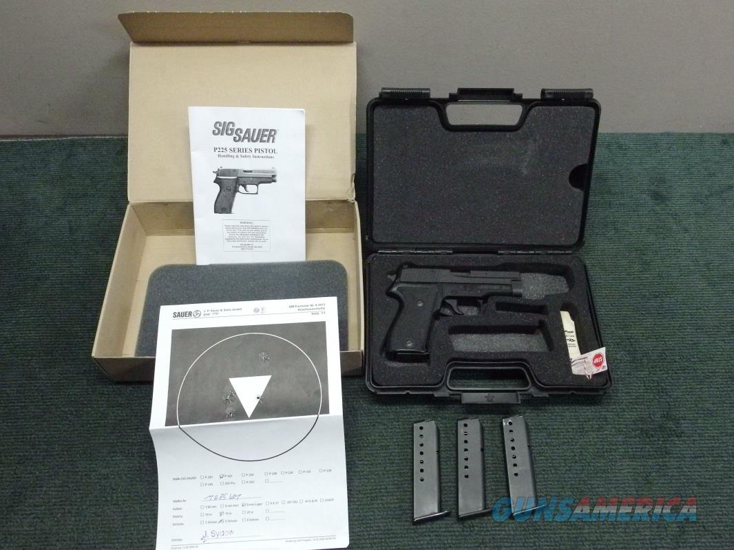 SIG SAUER P225 9MM - GERMAN TRIPLE S/N - BOXED - COLLECTORS ! - 1 of 1000 - MADE 2009 - TEST TARGET  Guns > Pistols > Sig - Sauer/Sigarms Pistols > Other