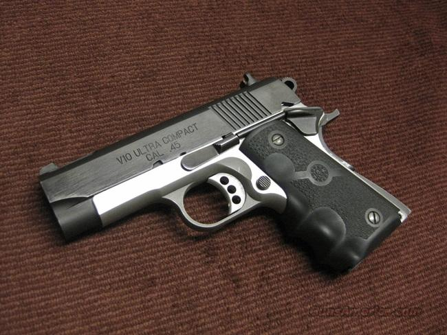 SPRINGFIELD ARMORY V10 ULTRA COMPACT .45ACP - TWO TONE - EXCELLENT  Guns > Pistols > Springfield Armory Pistols > 1911 Type