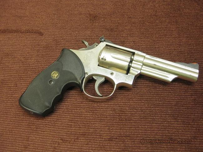 SMITH & WESSON 19-2 ,357 MAGNUM - 4-INCH - NICKEL - VERY GOOD  Guns > Pistols > Smith & Wesson Revolvers > Full Frame Revolver