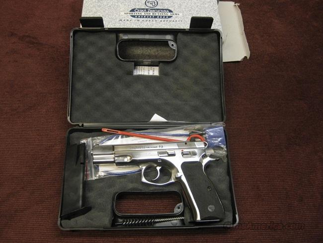 CZ 75B LIMITED EDITION 9MM - BRIGHT STAINLESS - AS NEW IN BOX  Guns > Pistols > CZ Pistols