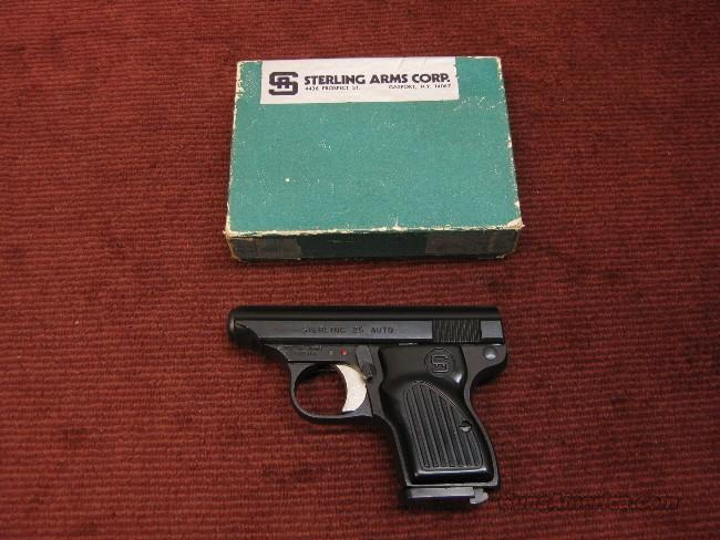 STERLING MODEL 300 .25ACP - AS NEW IN BOX !  Guns > Pistols > S Misc Pistols