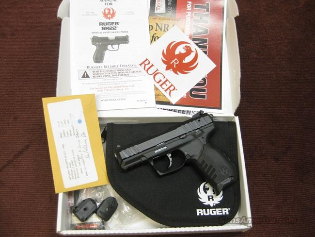 RUGER SR22 .22LR - AS NEW IN BOX WITH TWO MAGS.  Guns > Pistols > Ruger Semi-Auto Pistols > SR9 & SR40