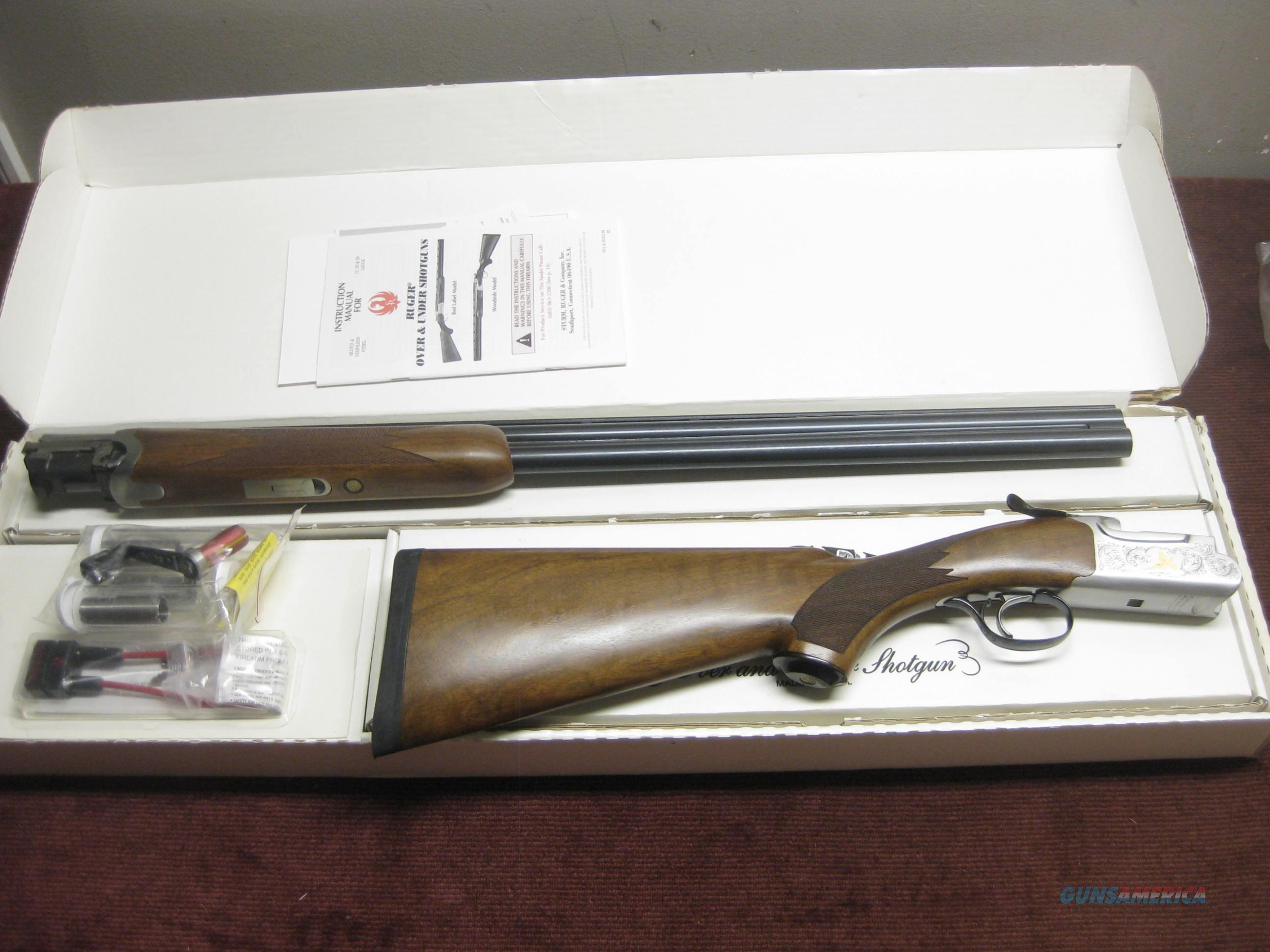 RUGER RED LABEL 20GA.- 50TH ANNIVERSARY - ENRAVED - 28-IN. CHOKETUBED - NEW IN BOX  Guns > Shotguns > Ruger Shotguns > Hunting