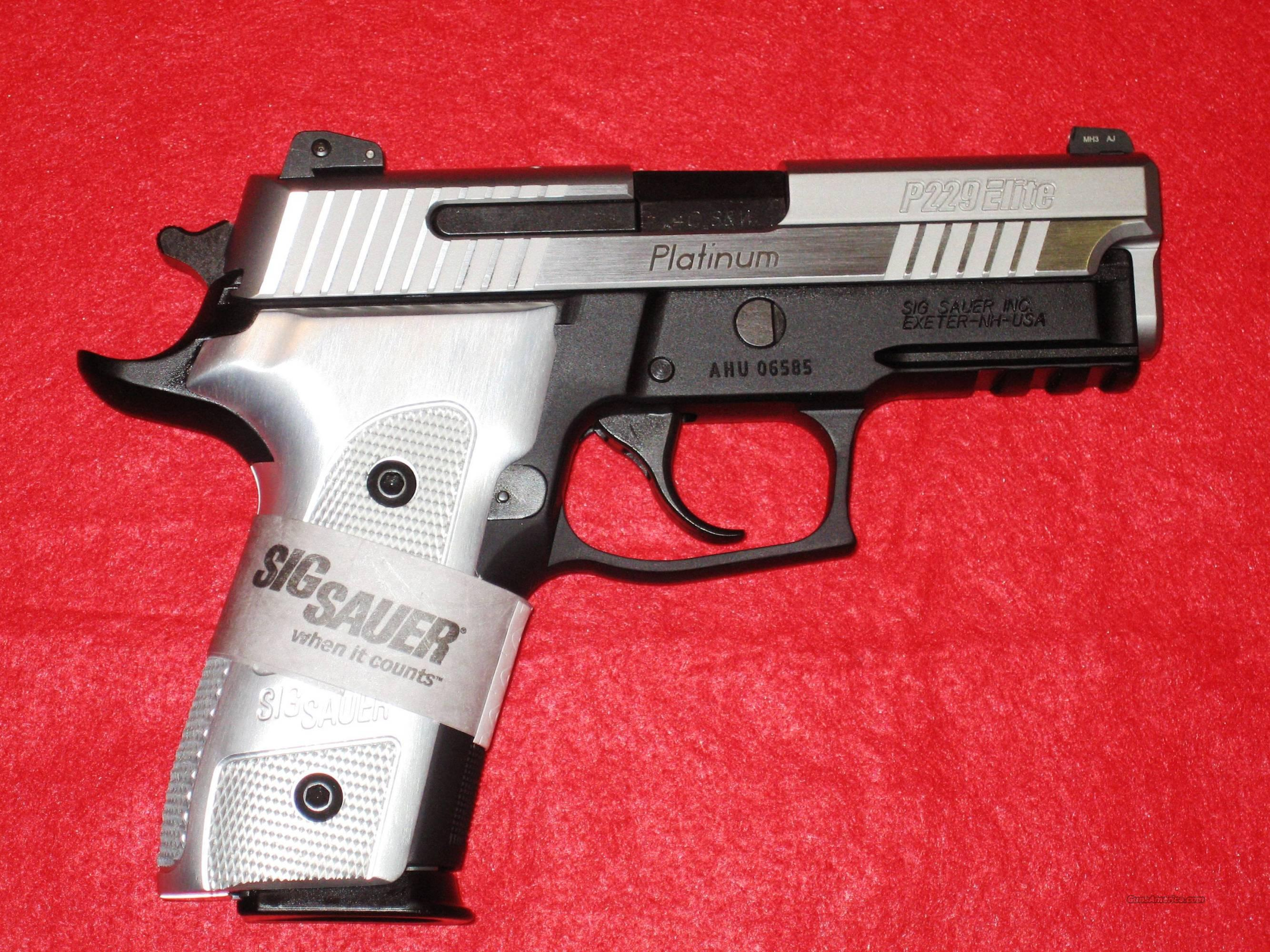 SIG P229 Platinum Elite in .40S&W !!!NEW!!!LAYAWAY!!!  Guns > Pistols > Sig - Sauer/Sigarms Pistols > P229