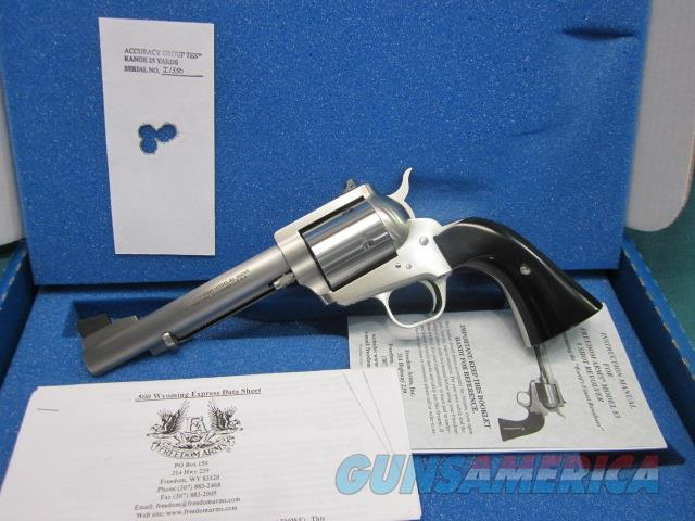 "Freedom Arms Model 83 Premier .500 Wyoming 6"" New in box  Guns > Pistols > Freedom Arms Pistols"