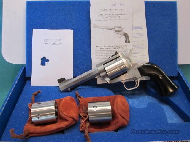 "Freedom Arms model 83 Premier TRIPLE cylinder 4 3/4 "" HEX barrel triple cylinder 454 casull/45LC/45acp. NIB OPTIONS  Guns > Pistols > Freedom Arms Pistols"