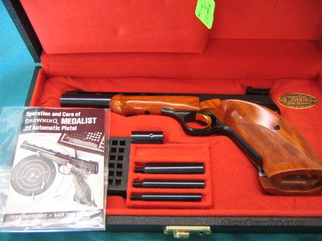 Browning Medalist .22 lr. NIB 1969 Belgium mfg.  Guns > Pistols > Browning Pistols > Other Autos
