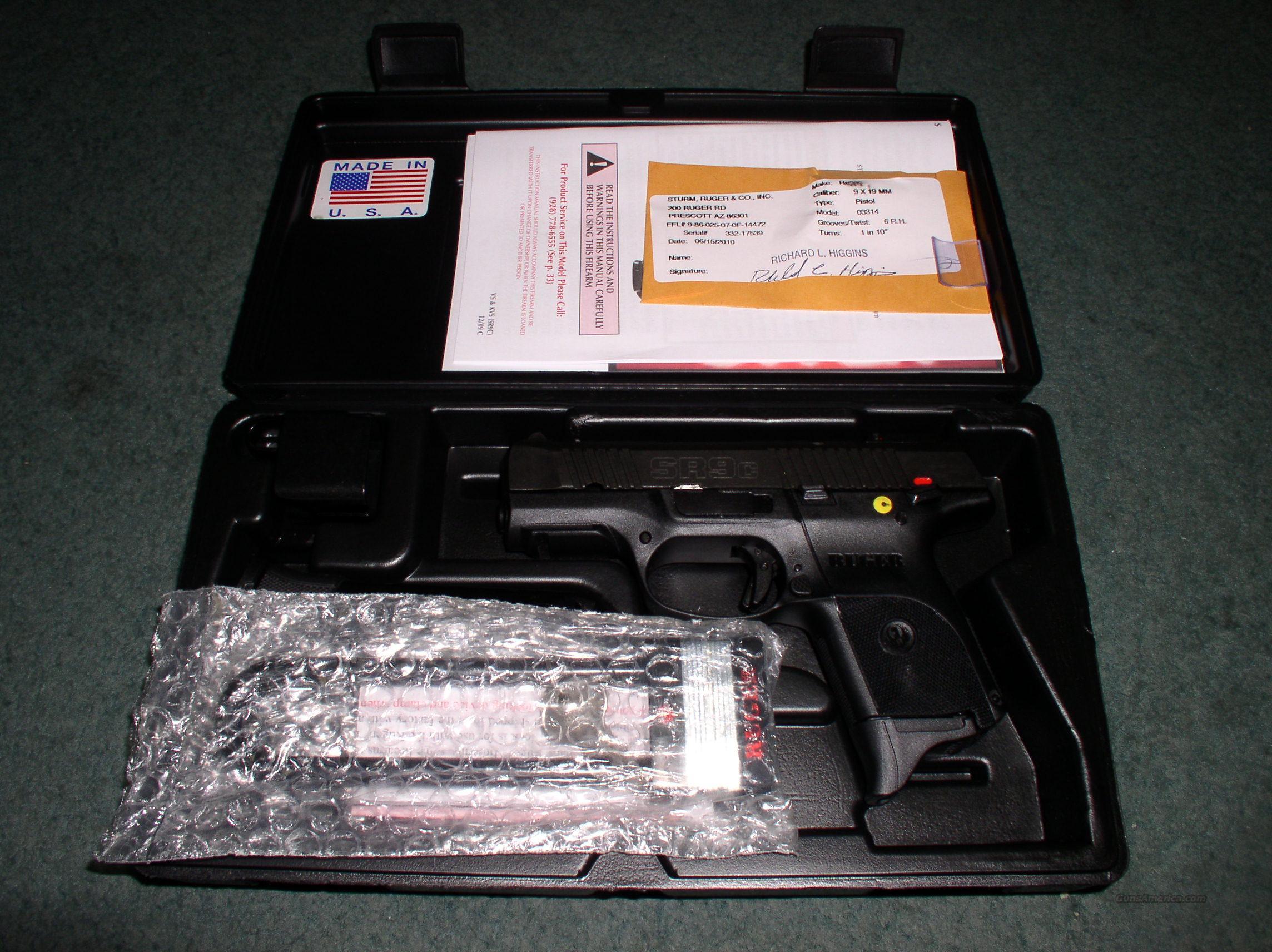 ruger sr22 pistol owners manual pdf