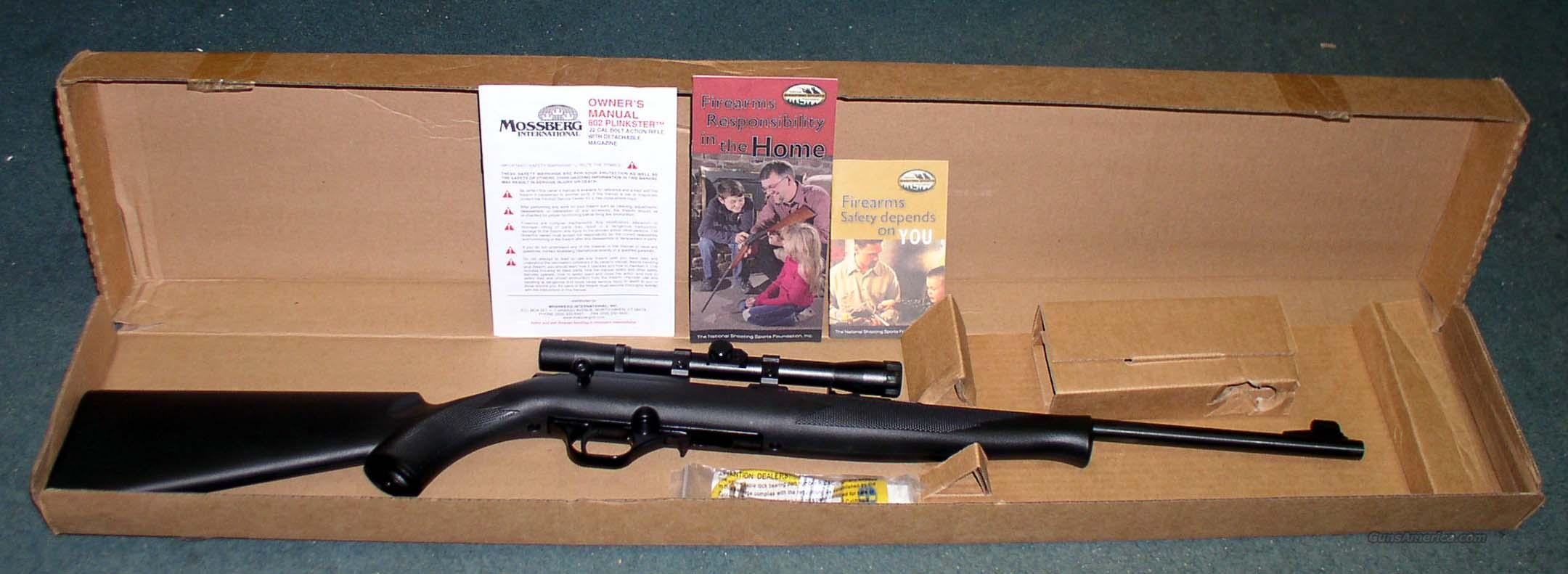 MOSSBERG MODEL 802 SEMI-AUTO .22 CAL RIMFIRE RIFLE  Guns > Rifles > Mossberg Rifles
