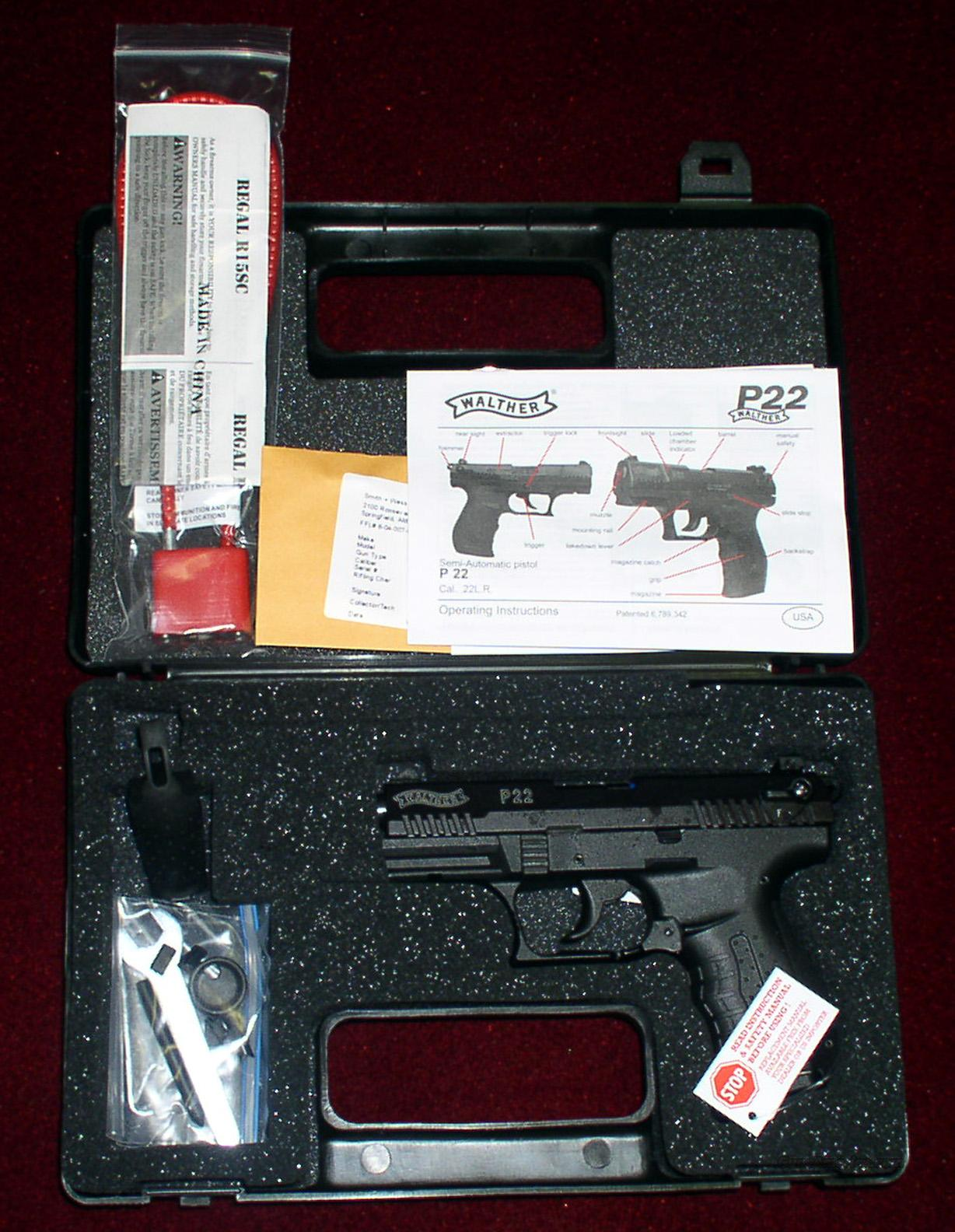 WALTHER P22  BLUE 3.4-INCH  Guns > Pistols > Walther Pistols > Post WWII > Target Pistols