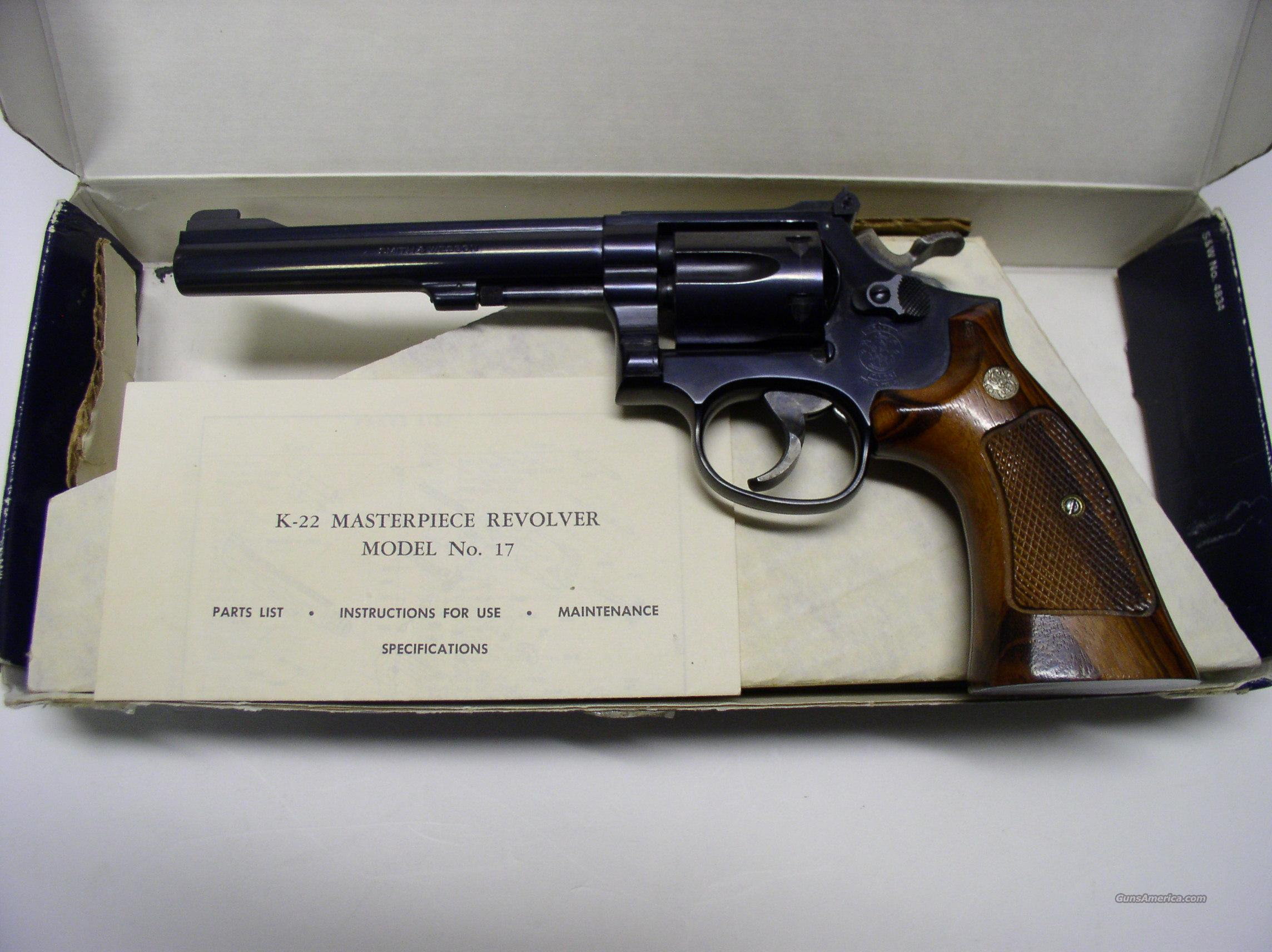 SMITH WESSON M17 MASTERPIECE K22 REVOLVER  Guns > Pistols > Smith & Wesson Revolvers > Full Frame Revolver