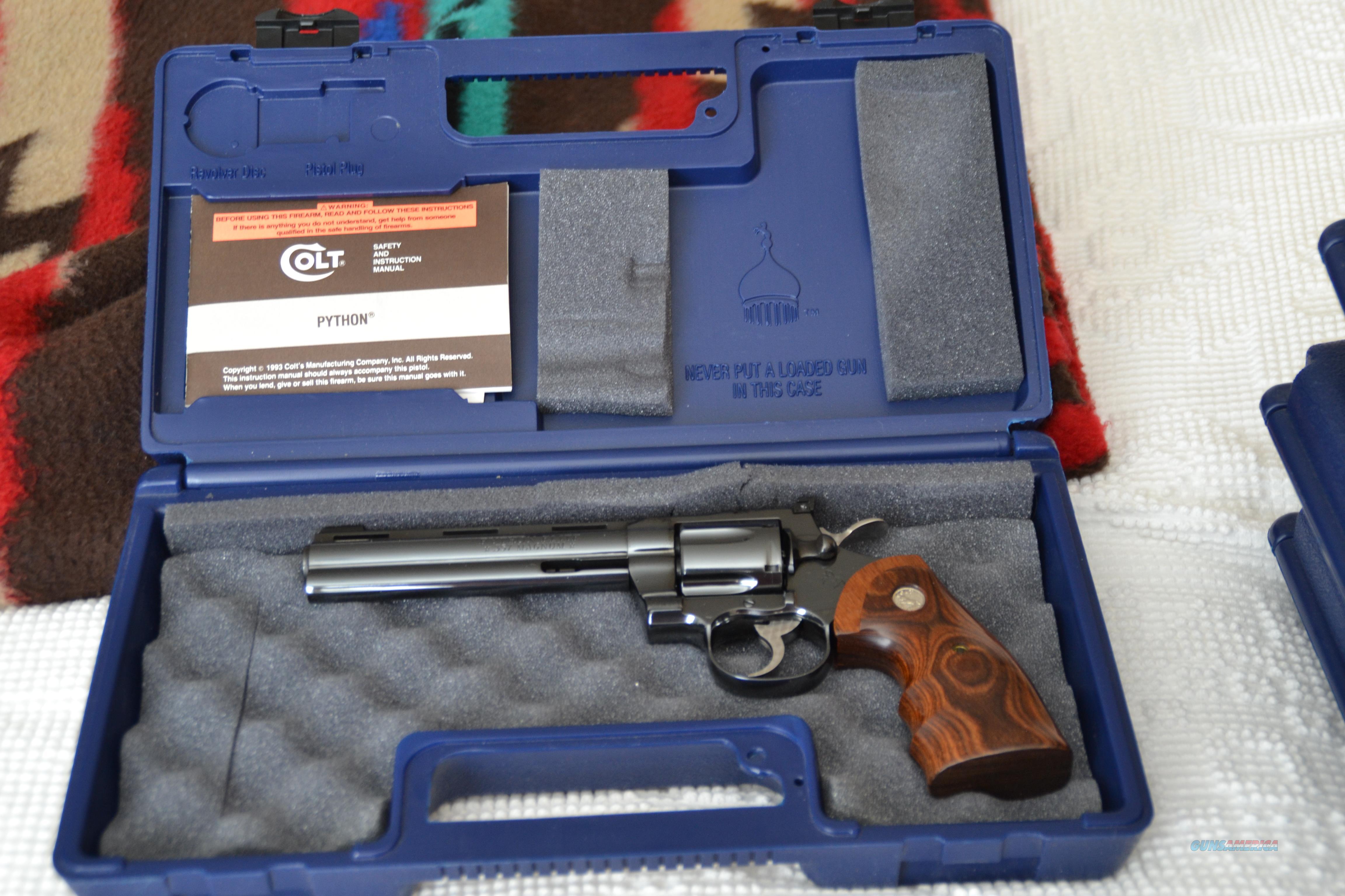 Colt Python Elite Blue 6 Inch  Guns > Pistols > Colt Double Action Revolvers- Modern