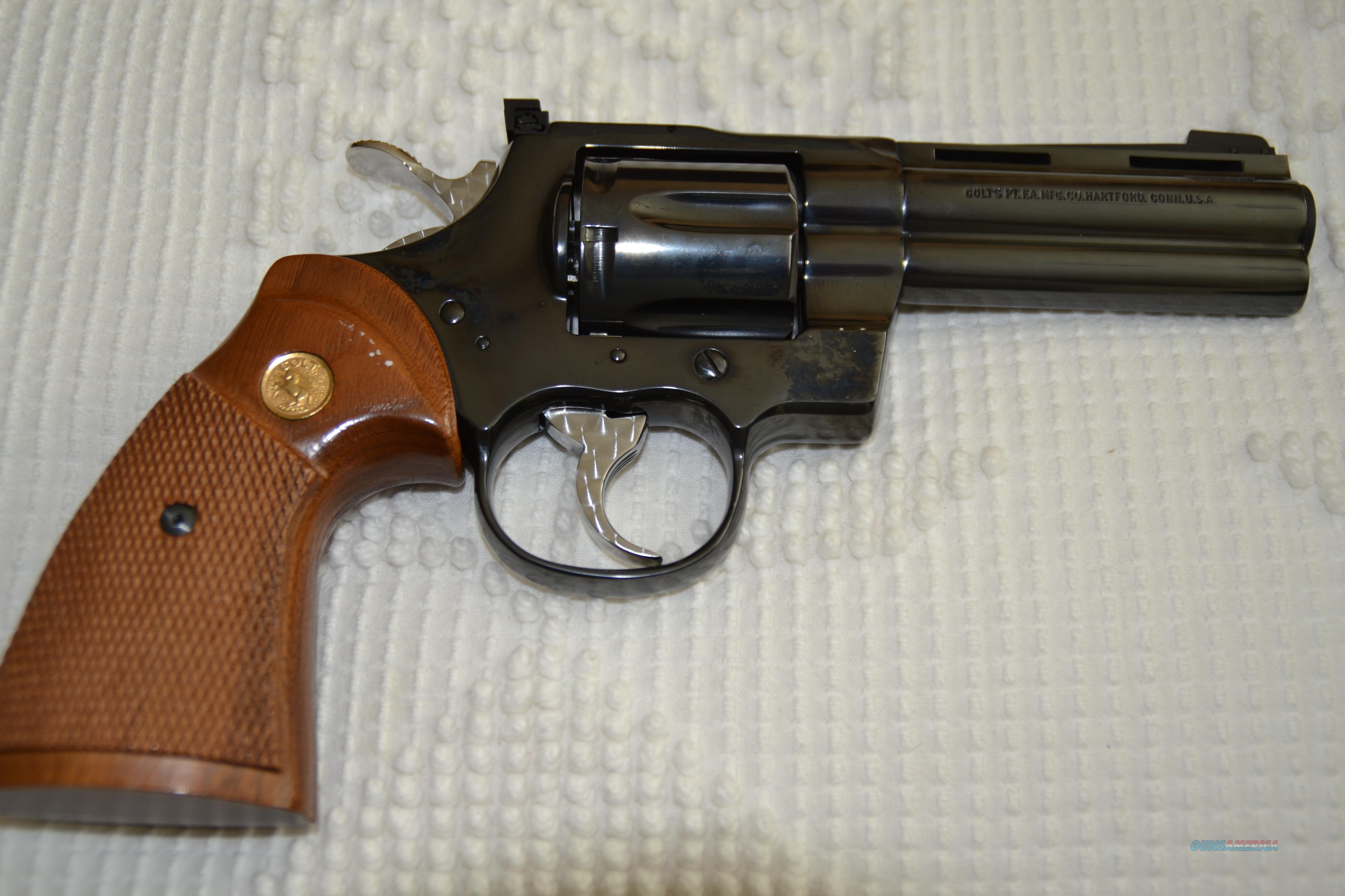 Colt Python 4 Inch   Guns > Pistols > Colt Double Action Revolvers- Modern