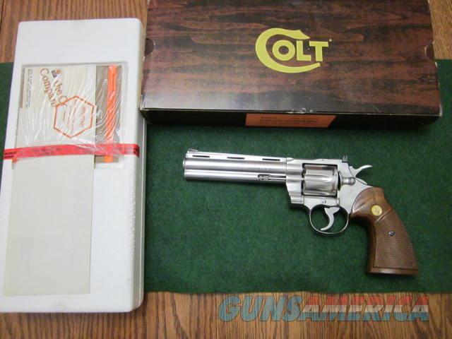 Colt Python Stainless Steel  Guns > Pistols > Colt Double Action Revolvers- Modern