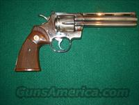 "Colt Python 6"" Nickel  Guns > Pistols > Colt Double Action Revolvers- Modern"