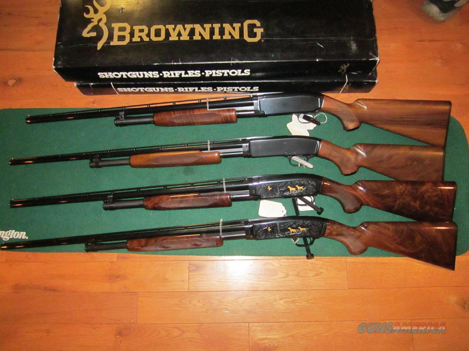 Browning M-42 and M-12 4 Gun Set  Guns > Shotguns > Browning Shotguns > Pump Action > Hunting