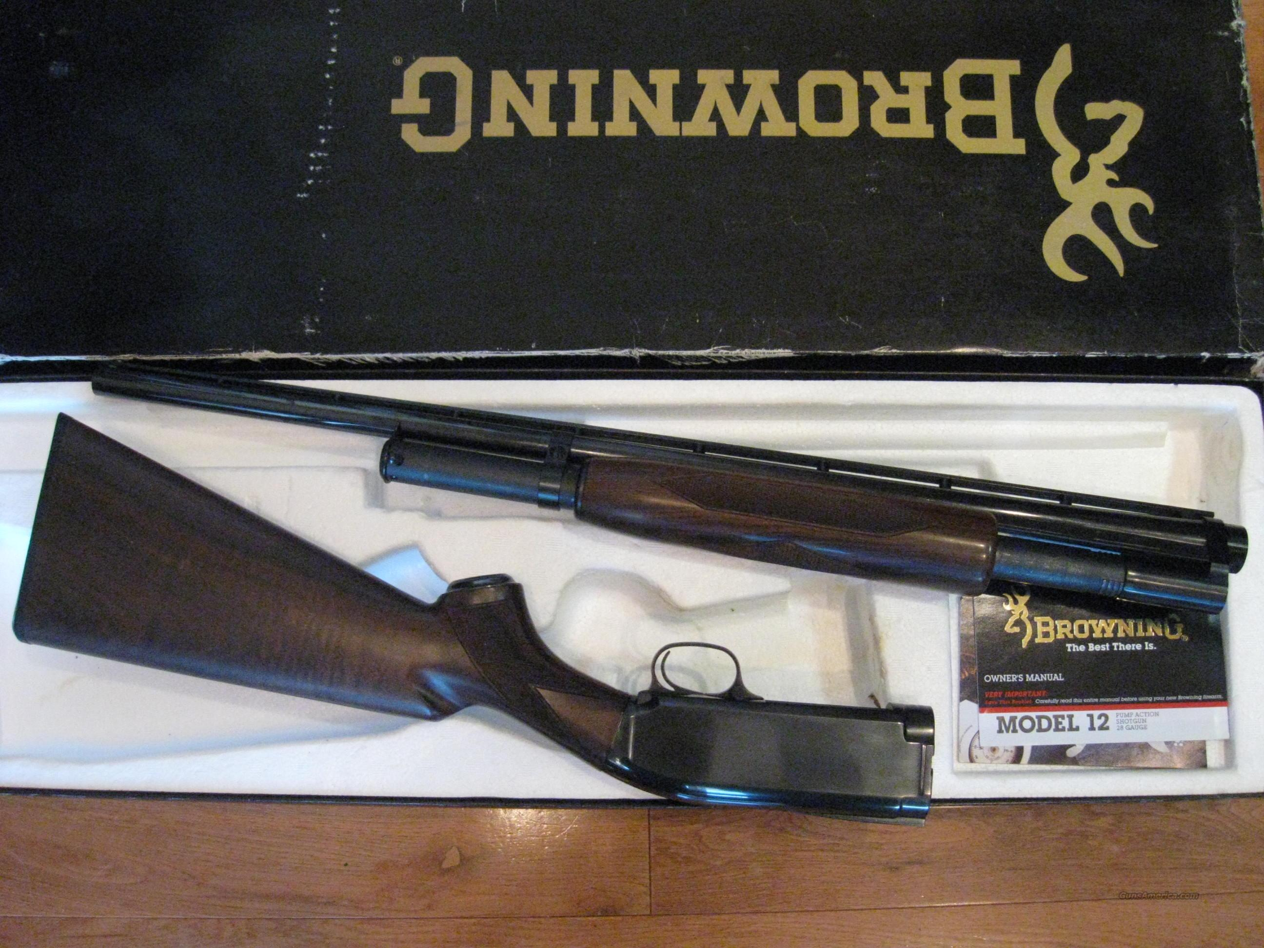 Browning M-12 28ga NIB  Guns > Shotguns > Browning Shotguns > Pump Action > Hunting