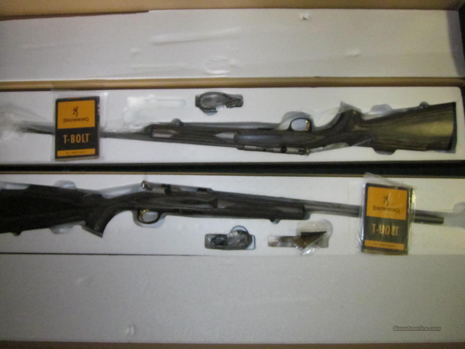 Browning T Bolt Pair 22Mag & 22LR  Guns > Rifles > Browning Rifles > Bolt Action > Hunting > Stainless